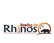 Bowling for Rhinos AAZK national logo!