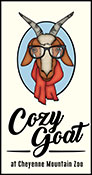 Cozy Goat sign graphic
