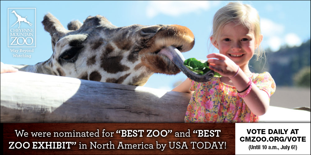 Vote for CMZoo for Best Zoo & Best Zoo Exhibit