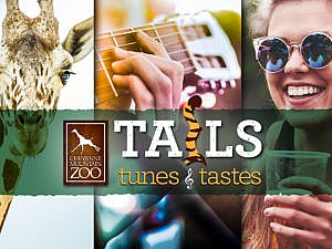 Tails, Tunes & Tastes hero graphic banner