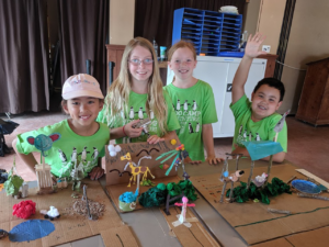 Campers during fun camp activity