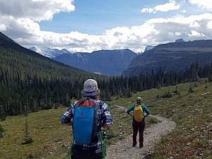 OUtdoor hiking in the Rocky Mountains