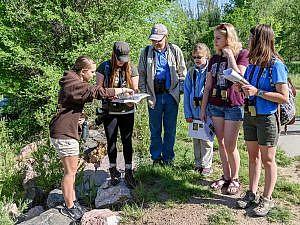 Teens in a migration workshop
